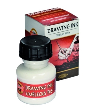 Picture of Kohinoor Artist's Drawing Ink - 20g - Titanium White
