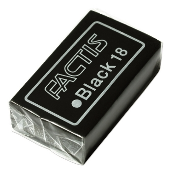 Picture of Factis Extra soft black eraser for soft leads and general purposes