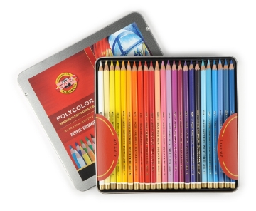 Picture of Kohinoor Polycolor - Artist Coloured Pencils Set of 48 - Tin Box