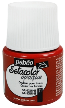Picture of PEBEO SETACOLOUR OPAQUE 45ML SANGUINE (051)