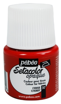 Picture of PEBEO SETACOLOUR OPAQUE 45ML CHERRY (050)