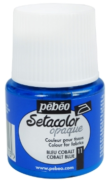 Picture of PEBEO SETACOLOUR OPAQUE 45ML COBALT BLUE (011)