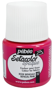 Picture of PEBEO SETACOLOUR OPAQUE 45ML BENGAL PINK (022)