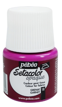 Picture of PEBEO SETACOLOUR OPAQUE 45ML GARNET  (018)