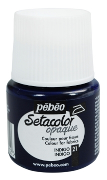 Picture of PEBEO SETACOLOUR OPAQUE 45ML INDIGO( 021)