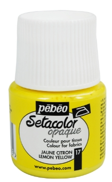 Picture of PEBEO SETACOLOUR OPAQUE 45ML LEMON YELLOW (017)