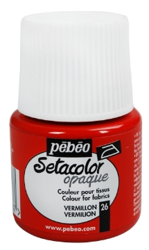 Picture of PEBEO SETACOLOUR OPAQUE 45ML VERMILION( 026)
