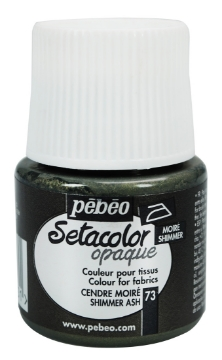 Picture of PEBEO SETACOLOUR OPAQUE SHIMMER 45ML ASH (073)