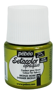 Picture of PEBEO SETACOLOUR OPAQUE SHIMMER 45ML BRONZE (072)