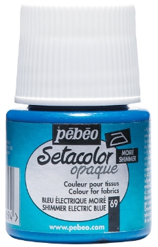 Picture of PEBEO SETACOLOUR OPAQUE SHIMMER 45ML ELECTRIC BLUE (069)
