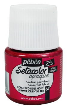 Picture of PEBEO SETACOLOUR OPAQUE SHIMMER 45ML ORIENTAL RED (064)