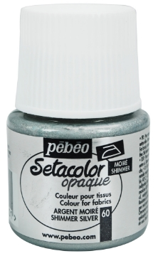 Picture of PEBEO SETACOLOUR OPAQUE SHIMMER 45ML SILVER (060)