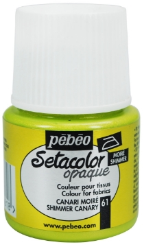 Picture of PEBEO SETACOLOUR OPAQUE SHIMMER 45ML CANARY (061)