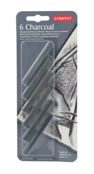 Picture of Derwent Compressed Charcoal Blister of 6