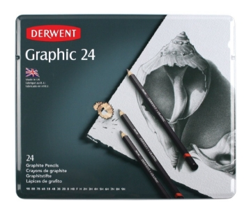 Picture of Derwent Graphic Pencils Set of 24 Tin
