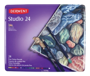 Picture of Derwent Studio Pencil Tin of 24