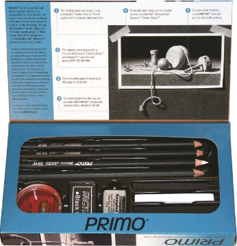 Picture of General's Primo® Euro Blend™ Charcoal Drawing Set. - 12 pc set