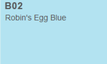 Picture of Copic Marker Robins Egg Blue (B02)