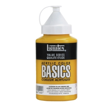 Picture of Liquitex Basics Acrylic Cadmium Yellow Medium Hue 400ml (830)