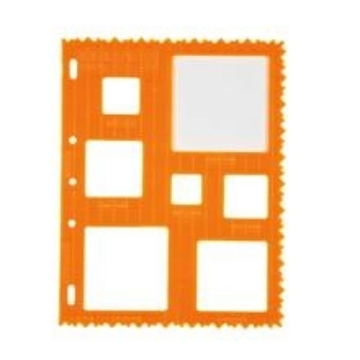 Picture of 4852 Fiskars Plastic Shape Template Squares
