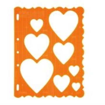 Picture of 4855 Fiskars Plastic Shape Template Hearts
