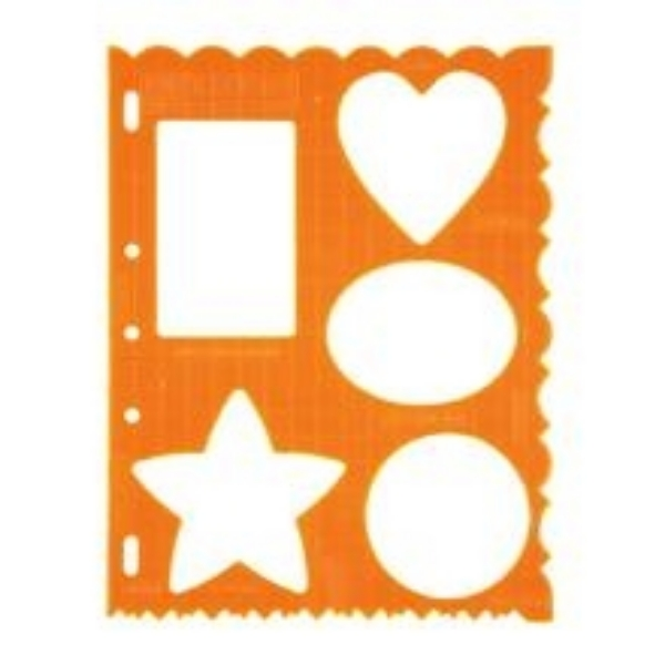 Picture of 4861 Fiskars Plastic Shape Template Shapes