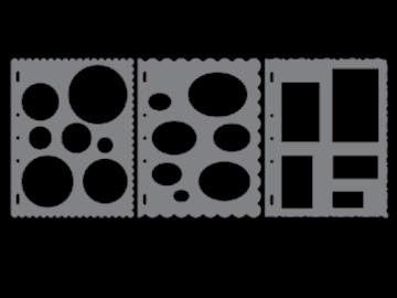 Picture of 4975 Fiskars Plastic Shape Template Basic Shapes