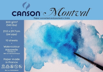 Picture of Canson Montval Polypack 300 gsm A4 size -Pack of 10+4 Sheets