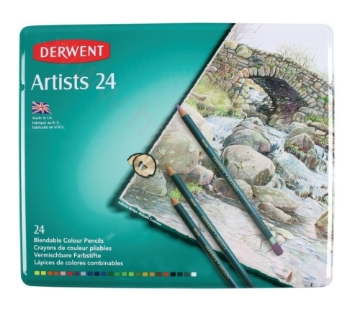 Picture of Derwent Artists Pencil Tin of 24