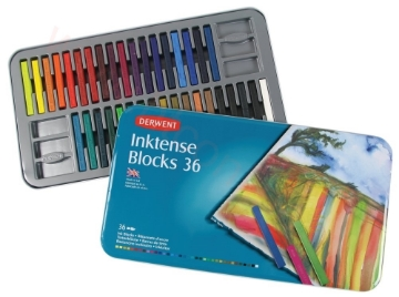 Picture of Derwent Inktense blocks tin of 36