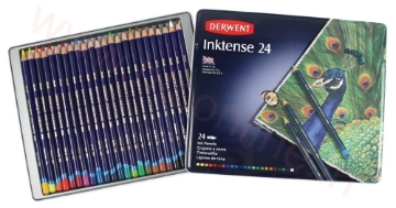 Picture of Derwent Inktense Pencils Set of 24 (Tin Pack)
