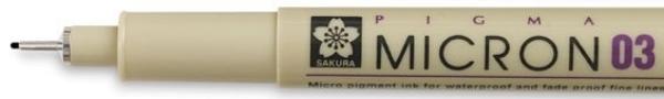 Picture of Sakura Pigma Micron Pen 0.3 (Black)