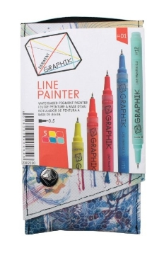Picture of Derwent Graphik Line Painter Pen Set of 5 (#01)
