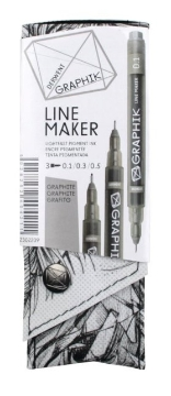 Picture of Derwent Graphik Line Maker Pen Set of 3 (Grey)