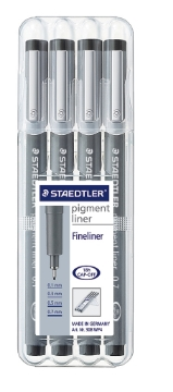 Picture of Staedtler Pigment Liner Pen Set of 4 (0.1/0.3/0.5/0.7mm)