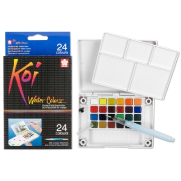 Picture of Sakura Koi Watercolour Cakes Set of 24 (Field Kit)