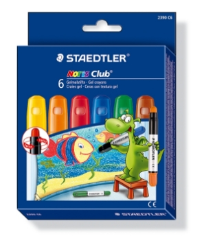Picture of STAEDTLER Noris Club Gel Crayons Pack of 6 - Basic COlours