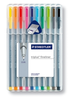 Picture of STAEDTLER Triplus Fineliner Pen Pack of 10 (0.3mm)