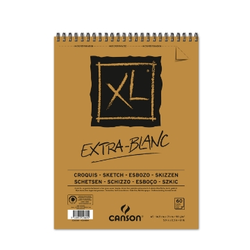 Picture of Canson XL Extra White Pad 90gsm A5 (60 Sheets)
