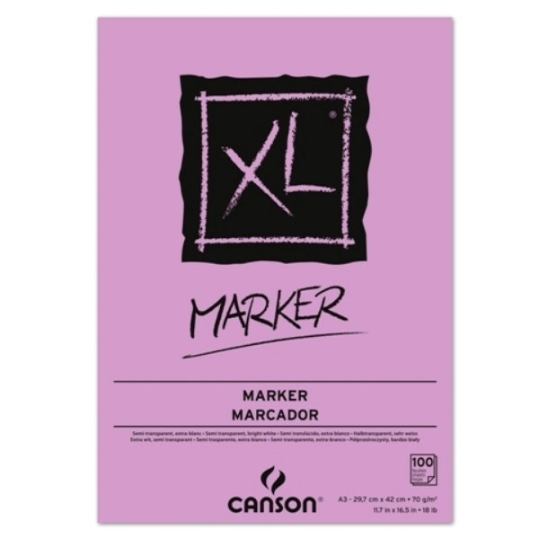 Picture of Canson XL Marker 70gsm A3 Pad (100 Sheets)