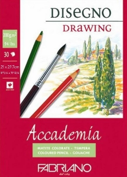 Picture of Fabriano Accademia Drawing Pad 200GSM A4 (30 Sheets)