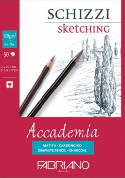Picture of Fabriano Accademia Sketching Pad 120GSM A4 (50 Sheets)