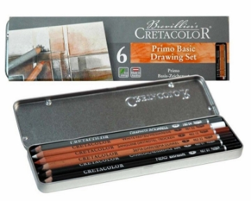 Picture of Cretacolor Primo Basic Drawing Set of 6 - Tin Box