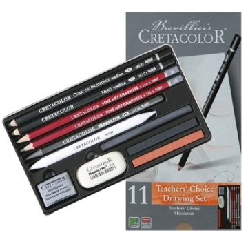 Picture of Cretacolor Teacher's Choice - Beginners Drawing Set of 11 - Tin Box