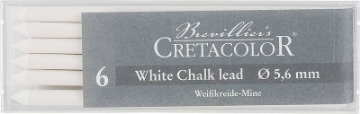 Picture of Cretacolor Artists White Pastel Dry Leads Medium (Set of 6)