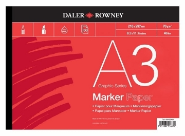 Picture of Daler Rowney Marker Paper Pad A3