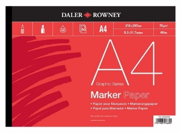 Picture of Daler Rowney Marker Paper Pad A4