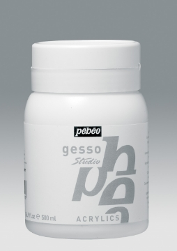 Picture of PEBEO STUDIO ACRYLIC GESSO WHITE 500ML (Jar)