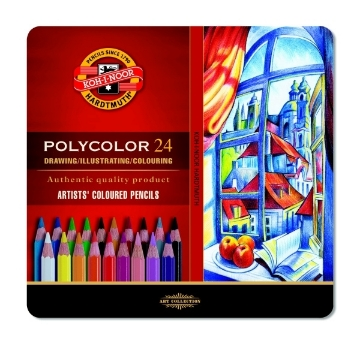 Picture of Kohinoor Polycolor- Artist Coloured Pencils Set of 24