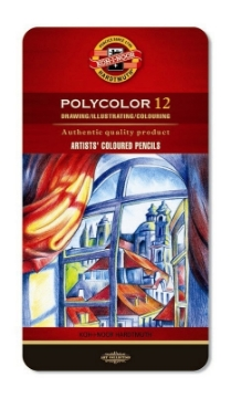 Picture of Kohinoor Polycolor Artists Coloured Pencil Set of 12